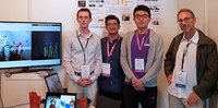 Idiap presented the European project MuMMER at the IROS robotics conference.
