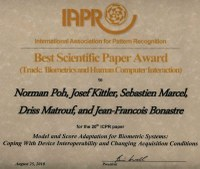 ICPR 2010, Best Scientific Paper Award